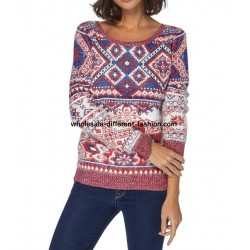 Sweater soft touch print 101 idées 8213W