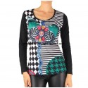 T-shirt top winter 101 idées 080IN distributors women clothes