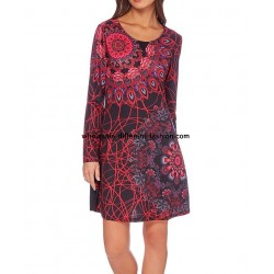 dress tunic print mid season 101 idées 410