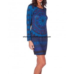 dress tunic print mid season 101 idées 408A