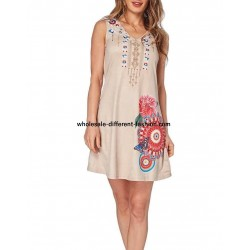 dress tunic suede summer ethnic 101 idées 331Y