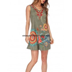 dress tunic suede summer ethnic 101 idées 330Y