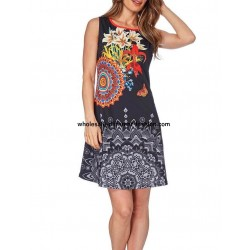 dress tunic print summer 101 idées 211Y