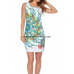 dress tunic print sequins 101 idées 704Y