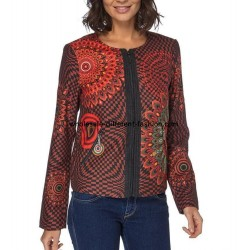 supplier paris jacket print ethnic winter 101 idées 073CAS