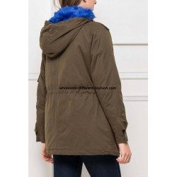 supplier fashion Parka khaki with hood 418AZ
