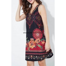 dress tunic ethnic floral print summer 101 idées 649Y cheap discount price