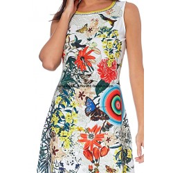 dress tunic ethnic floral print summer 101 idées 204Y french clothing