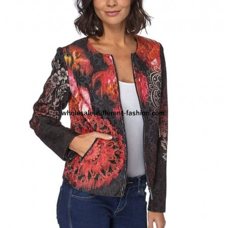 jacket print winter 101 idées 088CAS french clothing wholesale