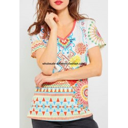 wholesale clothing top lace plus size summer floral ethnic 101 idées