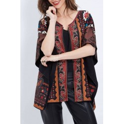 buy bulk clothes poncho winter ethnic tribal 101 idées 2162Z