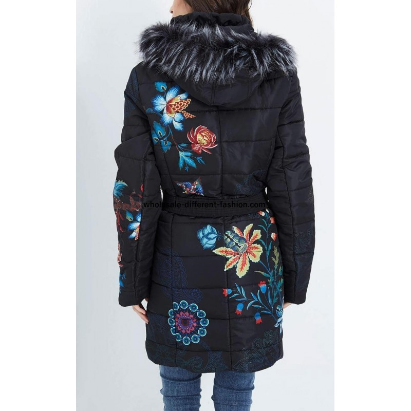 a83aef0f798 ... coat long quilted plus size floral print fur hood brand 101 idees ...
