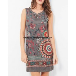 buy bulk dress tunic suede ethnic floral 101 idées 380P