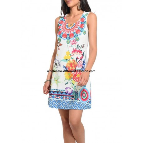 2517a4aef5 dress tunic lace summer ethnic floral 101 idées 644Y wholesale clothes for